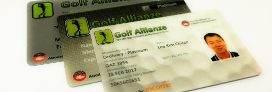 Payment via Paypal for Reprinting of Golf Allianze Membership Card